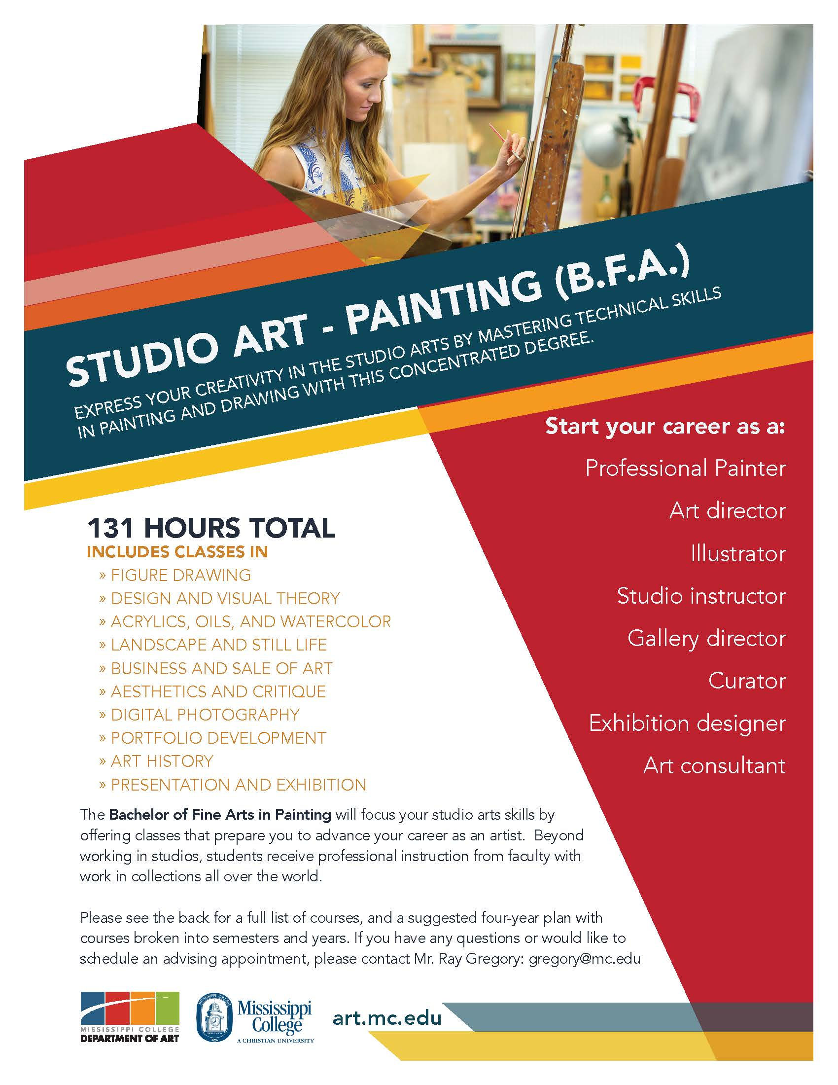 Painting, B.F.A. Flyer